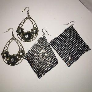 Jewelry - Bronze metallic fashion earrings