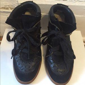 Isabel Marant Wedge Black Sneakers