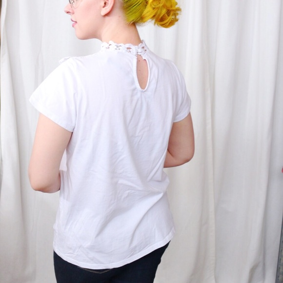 ASOS Tops - 💙SALE❤️ White Lace Collar Tee