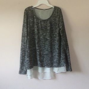 Tops - PIMKIE mixed gray long sleeve (size m)