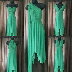 Dresses & Skirts - Price drop! Cute kelly green short maxi dress