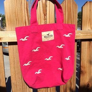 Hollister pink beach bag!