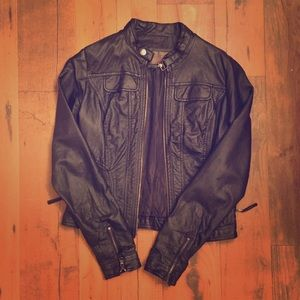 Jackets & Blazers - Black Leather Jacket