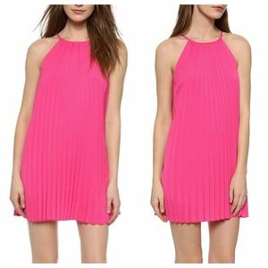 REDUCED❗️Hot Pink / Fuchsia Pleated Mini Dress
