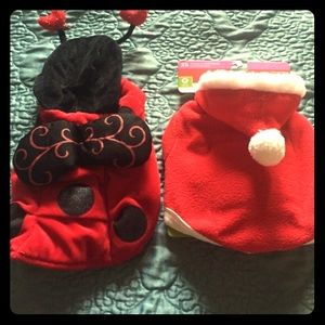 Other - Ladybug & Santa pet costumes!!🐾🎄🎃😍