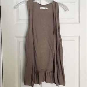 Old Navy Beige Vest w/ Ruffled Back