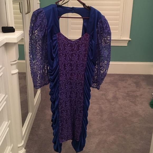 Vintage 80\'s Plus Size Prom Dress