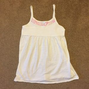 Childrens place Other - Girls size 7/8 white tank with sequins