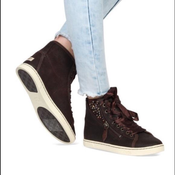 UGG high top crystal blaney sneakers