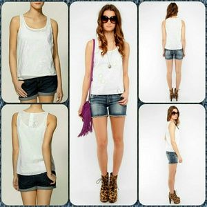 Jack by BB Dakota Tops - Jack BB Dakota Charlie EYELET Sweet Boho Top Tank