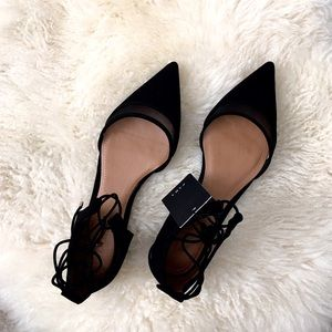 ‼️Final Hour‼️Zara d'orsay flats black