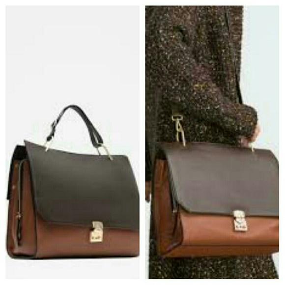 1d6ade75d30 Zara Bags | Combined Leather City Bag 8059 | Poshmark