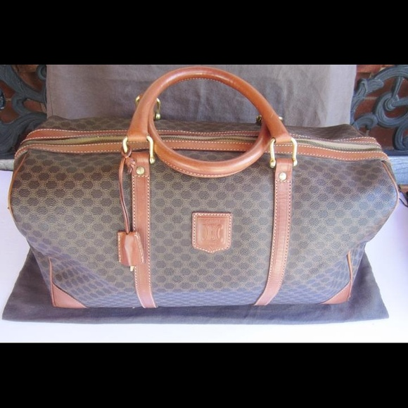93bac9dab179 Celine Handbags - RESERVED Celine Macadam Boston Travel Bag