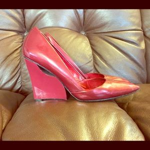 Charles Jourdan Shoes - 🚩SALE🚩CHARLES JOURDAN POINTY TOE RED PUMPS