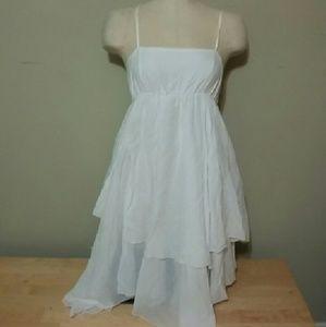 Benetton Dresses & Skirts - Benetton...white layered asymmetric dress sz.XS-S