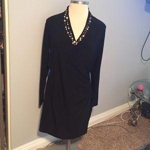 Norma Kamali Dresses & Skirts - SIDE RUCHED WAIST LIL BLCK DRESS
