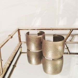 Banana Republic Jewelry - Matte Gold Hammered Cuffs - Set of 2
