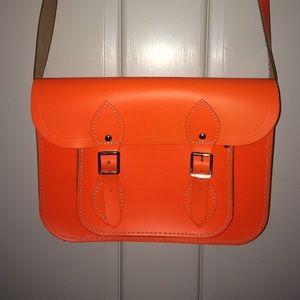 Cambridge Satchel Handbags - The Cambridge Satchel Company Electric Orange Bag