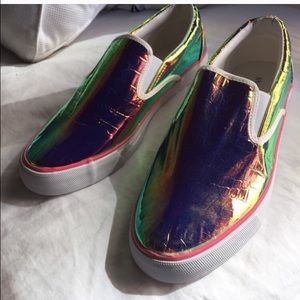 Shoes - 🎉HP 11/10🎉Slip-on holographic sneakers