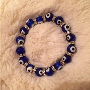Blue Evil Eye Stretch Bracelet