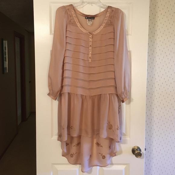 17f123f7c3a7 Haute Hippie Dresses & Skirts - Haute Hippie Blush Silk Long-sleeve Dress
