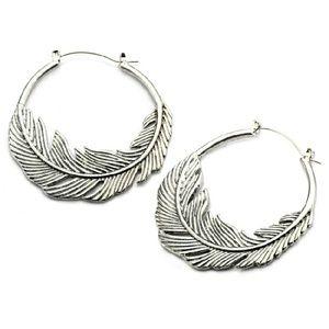 Jewelry - Feather Ear Hoops