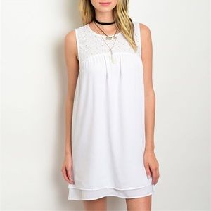Today Only!  Embroidered top white summer dress
