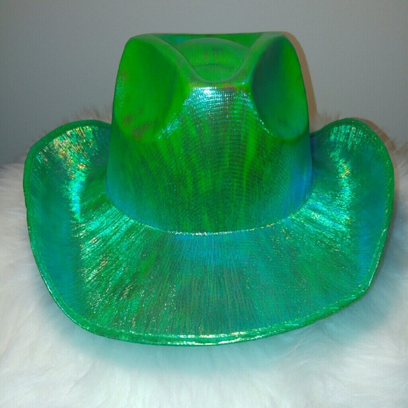 Accessories - Green Blue Iridescent Cowgirl Cowboy Hat 736d1029968