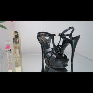 YSL Black Tribute Heels Size 38.5 - Pre Loved