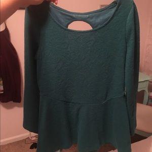 Green dress top