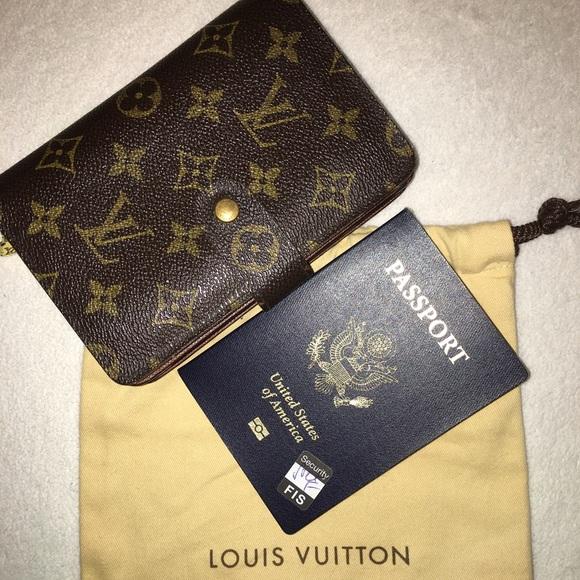 louis vuitton zip wallet. sold louis vuitton french zip wallet passport card zip wallet