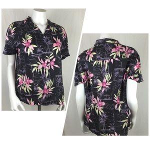 Hilo Hattie Hawaiian Original Store Silk Blouse