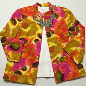 Peck & Peck Multi-color Short Cotton Jacket Size 8