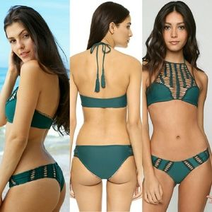 c6b8af0c841cd acacia swimwear Swim - New acacia seaweed panama crochet bikini top green