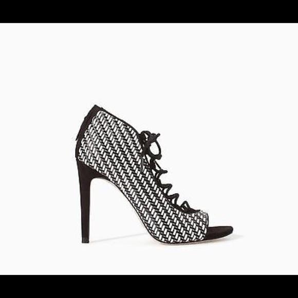 f26b7c4939e Zara checkered heels size 6