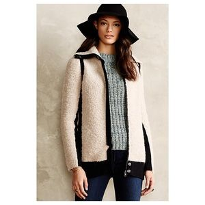 Anthropologie Colorblocked Boucle Coat