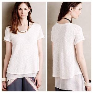 Anthropologie Layered Faria Top