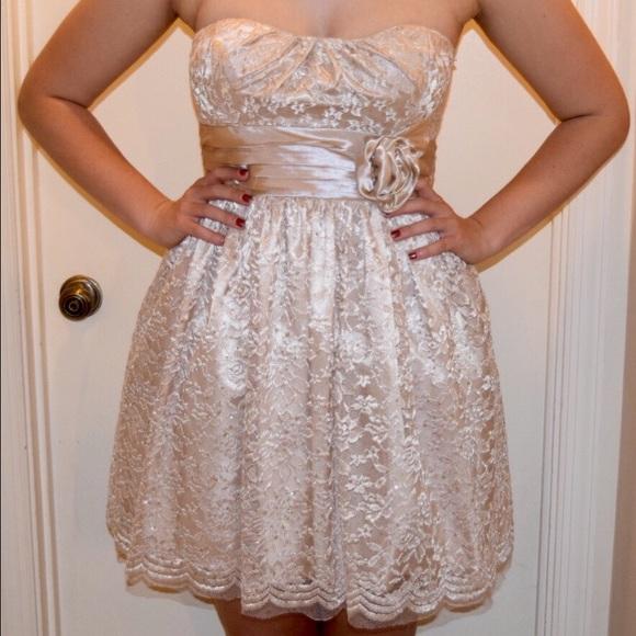 City Studio Dresses Champagne Lace Semi Formal Dress Poshmark