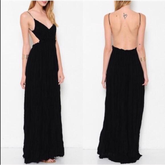 64aabd8dab0 AILANI blossom Backless maxi dress - BLACK