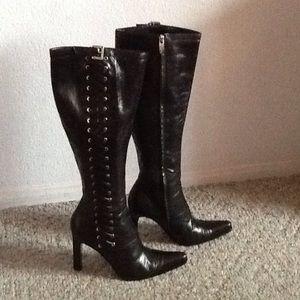 Sergio Rossi Shoes - Sergio Rossi black leather size 8.5