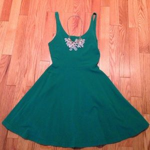 Express green skater dress✨make an offer✨