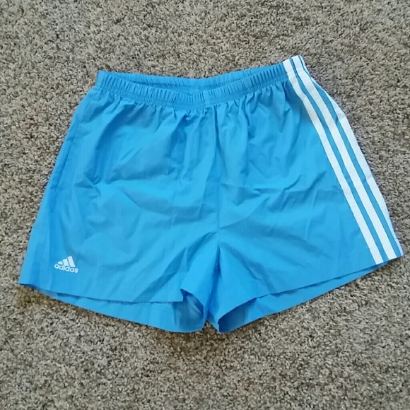 50% off adidas Pants - New Adidas light blue with white stripe ...