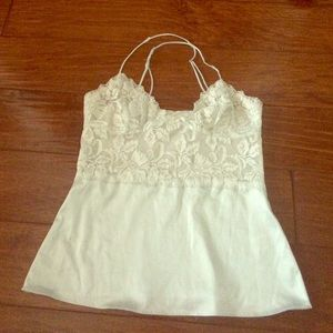 Light blue banana Republic lace top cami