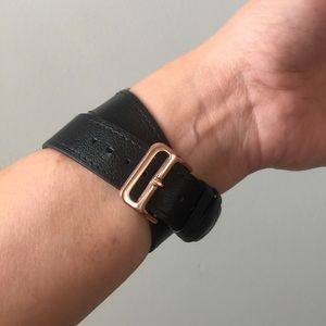 96bd285ee Other | Rose Gold Black Apple Watch Double Tour Band | Poshmark