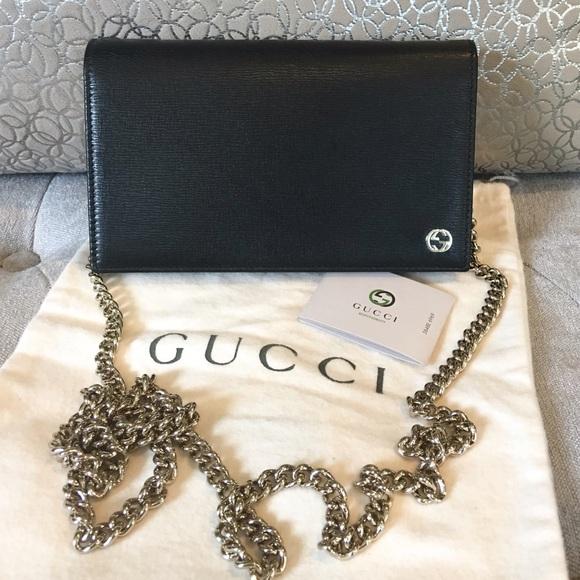 d61a67df8371 Gucci Bags | Betty Black Wallet On Chain Crossbody Bag | Poshmark