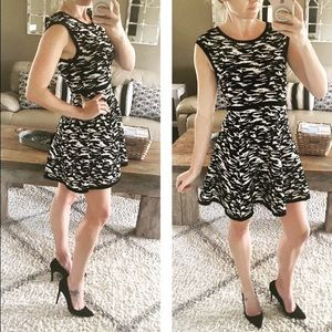 """Milly Dresses & Skirts - NWT Milly """"Marble Jacquard Flare"""" dress"""