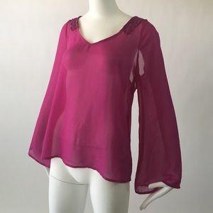 Tops - Sheer long sleeve top