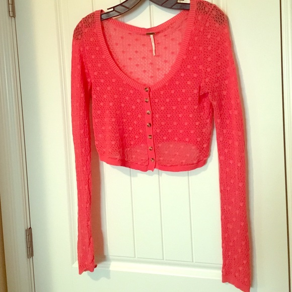 94% off Free People Sweaters - Sheer cropped cardigan from Jaime's ...