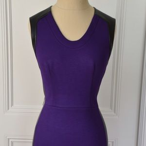 Robert Rodriguez Purple and Black Cocktail Dress