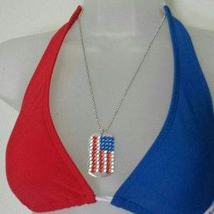 USA EMBELLISHED ENGRAVABLE TAG NECKLACE